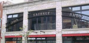 Genes Sausage Shop Signage